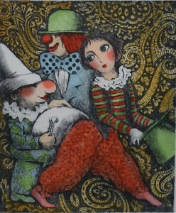 ANNE SMITH ~ CHARMING ORIGINAL LIMITED EDITION ETCHING