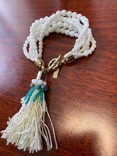 Vineyard vines white glass beads multi strands bacelet