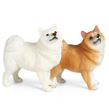 Samoyed Figure Pet Dog Animal Model Realistic Decor Toy Collector Kids Gift