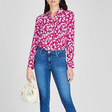 Equipment Retro Romance Flower Print 100% Silk Long sleeve Shirts Ladies Blouses