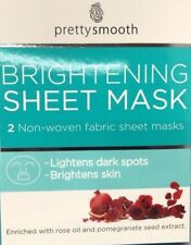 2 Pack Non-Woven Fabric Sheet Masks for Lightens Dark Spots & Brightens Skin