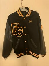 High School Letterman Varsity Jacket Size mens Large  Black