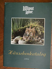 LILLIPUT LANE  -  1994 Katalog book (36 pages) - as new in GERMAN and RARE FIND