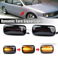 LED Dynamic Side Light Turn Signal Indicator For Nissan Almera N15 Maxima Cefiro