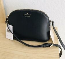 NEW Kate Spade Kali Small Dome Crossbody Bag Leather Black NWT $239
