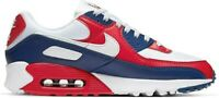 NEW Nike Air Max 90 Men Size Running Shoes USA White Red Blue CW5456 100