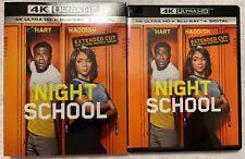 NIGHT SCHOOL EXTENDED CUT 4K ULTRA HD BLU RAY 2 DISC SET = SLIPCOVER SLEEVE BUY