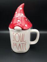 Rae Dunn Valentine's Day SOUL MATE w/ Gnome Topper Coffee Tea Mug Cup