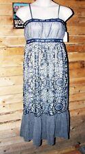 CASSES'S HIGH END DESIGNER LABEL SUMMER BLUE DRESS $242 MRSP!! Free shipping!