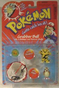 Pokemon Grabber Ball Electrabuzz #125 & Pidgey #16 Fgures By Hasbro Mint On Card