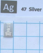 1 gram 99.9% silver metal bullion element 47 sample