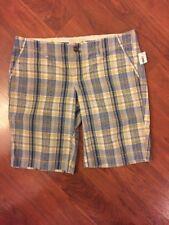Old Navy Women's Low Rise Blue Multicolor Bermuda Shorts Sz 8 New