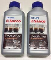 2 Fl. SAECO Entkalker a.250 ml  Nr. CA 6700 / CA 6701 ( 27,80 € / Liter )