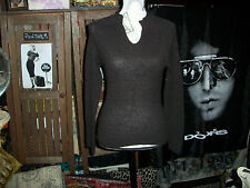 UNITED COLORS OF BENETTON Cool Chocolate Knit Top Size S