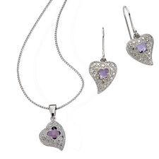 Diamonds by Ellen K. Ohrhänger / Anhänger mit Kette 925/- Sterling Silber