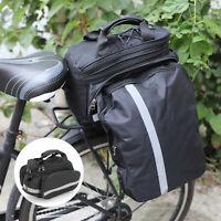 Bike Rear Rack Bag Cycling Saddle Waterproof Seat Pouch Storage Pannier Bags