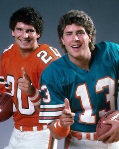 DAN MARINO & BERNIE KOSAR 8X10 PHOTO MIAMI DOLPHINS NFL FOOTBALL PICTURE
