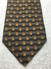 MENS TIE GRAY AND BROWN 4 X 60
