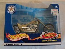 2002 Hot Wheels Law Enforcers White Moto 1:18 New