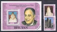 Bhutan postfris 1982 MNH 771-772 blok 89 - 21ste Verjaardag Diana (S1815)