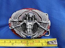 Medicina Indio Nativo Americano Hombre Hebilla de cinturón Águilas alrededor del marco