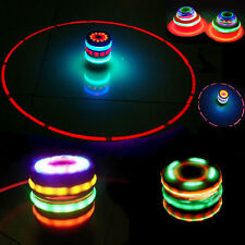 NEW Toy Kids Wood Spinning Top Spinner Gyro with Music & Laser Flash Light Toy
