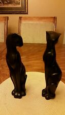 """Vintage Solid  (HEAVY) Siamese Cat Statues  12"""""""