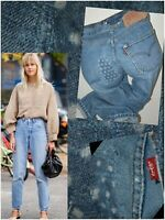 vintage reworked LEVI'S 501 JEANS W27 L30 uk 8-10 high waisted mom women ladies
