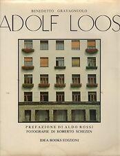Adolf Loos- B.GRAVAGNUOLO, 1981 Idea Books editore, illustrato - ST653