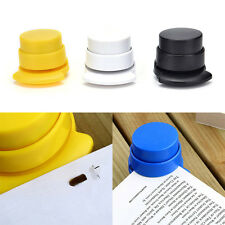 1X Office Home Staple Free Stapleless Stapler Paper Binding Binder PaperclipSN