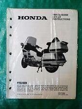 Sealed Genuine Honda Set-Up Instructions Manual 5152-9006 1991 GL1500SE Goldwing
