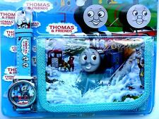 Great Kids THOMAS THE TANK ENGINE  Watch and Wallet // Purse Set  Lovely Gift