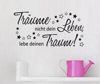 Wandspruch: Träume nicht dein Leben Zitat Schlafzimmer Wandaufkleber WandTattoo