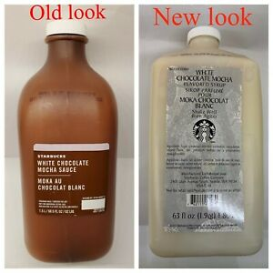 STARBUCKS WHITE CHOCOLATE  MOCHA SYRUP NEW  EXP- JUNE  2021