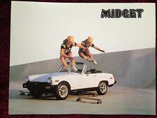 MG Midget 1978 Dealer Sales Brochure - Original - Mint Condition