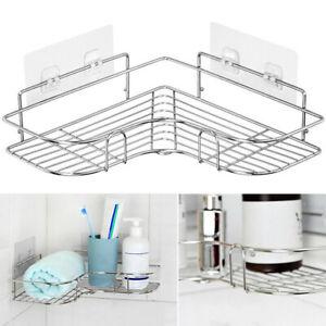 Stainless Steel Shower Caddy Corner Storage Shelf Holder Rack Organiser Bathroom