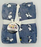 "Berkshire Peanuts Astro Snoopy Twin 60/"" x 90/"" Velvet Soft Blanket Throw New Tag"