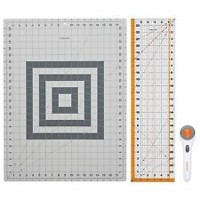 Rotary Cutting Mat Extra Large Self Healing Cutter Ruler Set Quilting Sewing New