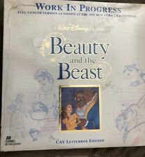 Beauty and the Beast - Work In Progress CAV Letterbox - Laser Disc