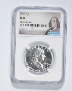 PF69 - 1963 Franklin 90% Silver Half Dollar - NGC *097