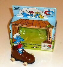 Vintage 1983 Peyo Smurfs - DIECAST METAL MINIATURE - Boxed MIB (A5)