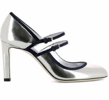 Jimmy Choo original shoes decoltè donna ladies size 38 silver navy leather
