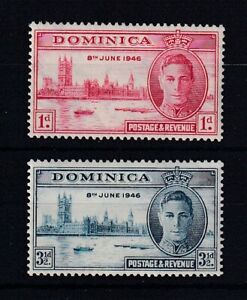 DOMINICA 1946 Victory Set MNH