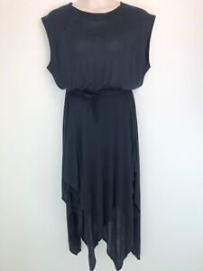 SASS & BIDE navy The Ace wrap skirt overlay romper playsuit size 14