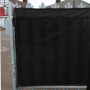 98% Black Shade Netting, Privacy Screening, Windbreak, Garden Fence - 1m x 15m