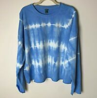 Wild Fable Women's Sweatshirt Top Size Large Tie Dye Long Sleeves Cotton Blend