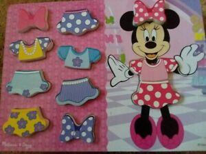 Disney/ Melissa & Doug Minnie Mouse Wood Dress-up Puzzle   #7466