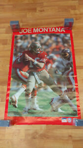 Vintage 1988 Starline Joe Montana San Francisco 49ers Poster