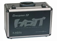 NEW GRAUPNER TRANSMITTER ALUMINUM CASE FOR MX-12 / MX-18 / MZ-24