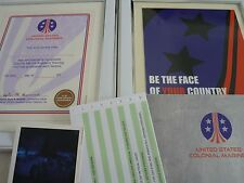 Aliens colonial marines classified documents framed Certificate & poster 10by8